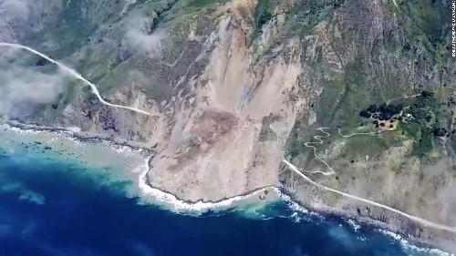 Landslide buries California's scenic highway in Big Sur