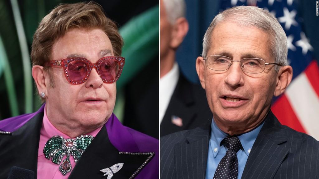 Elton John honors Anthony Fauci on World AIDS Day