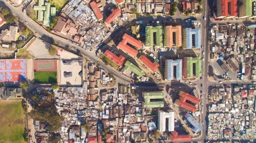 How drone photographs showcase racism in South African architecture