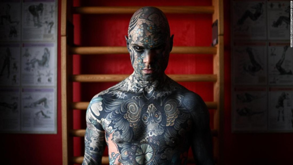 French man says tattoo-covered face cost him kindergarten teaching job
