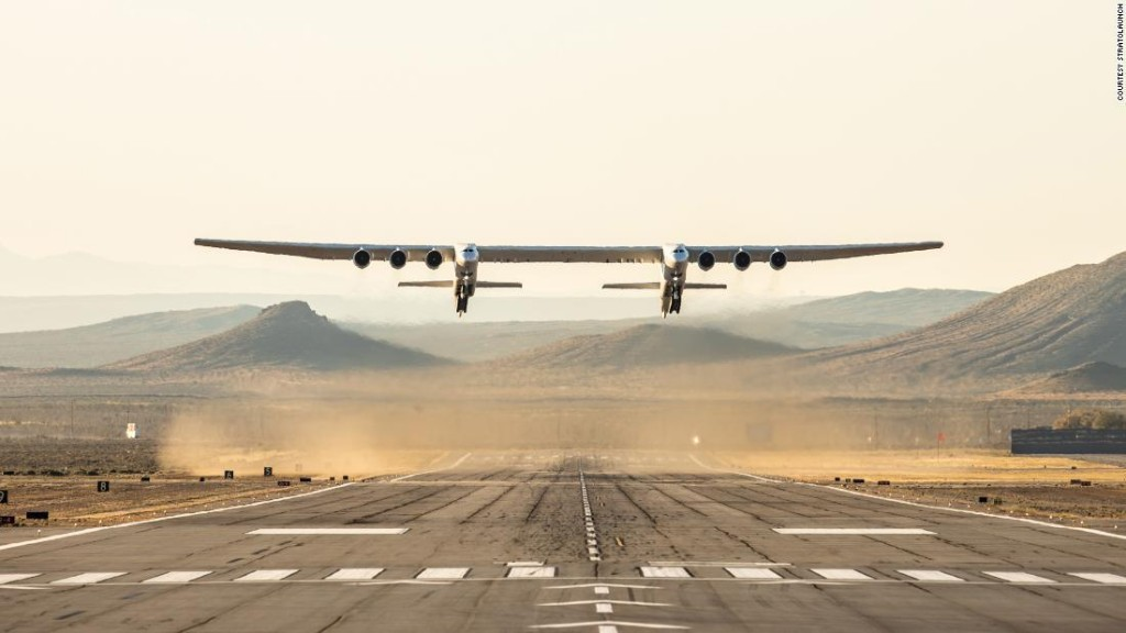 The world's largest plane just flew for the first time