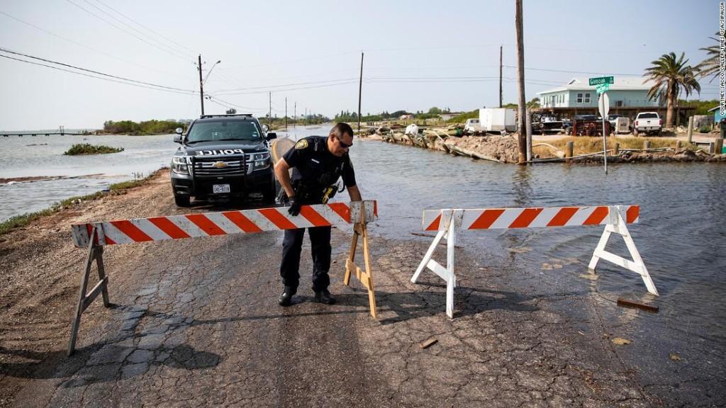 Storm surge and debris already present along Gulf Coast as Tropical Storm Beta takes aim