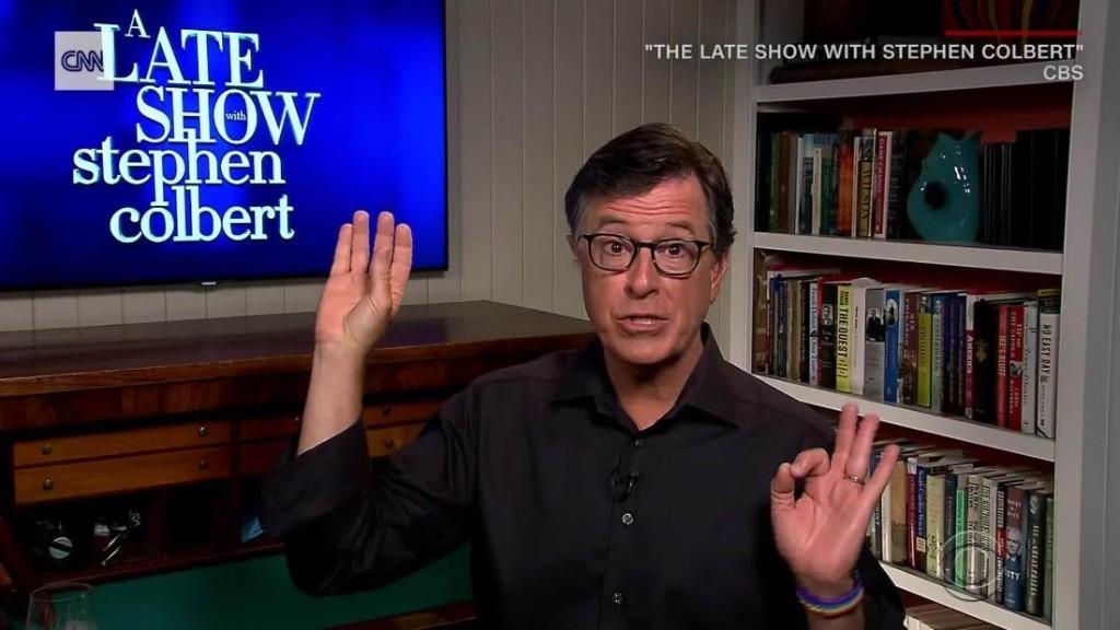 Stephen Colbert mocks Trump's Bible photo-op