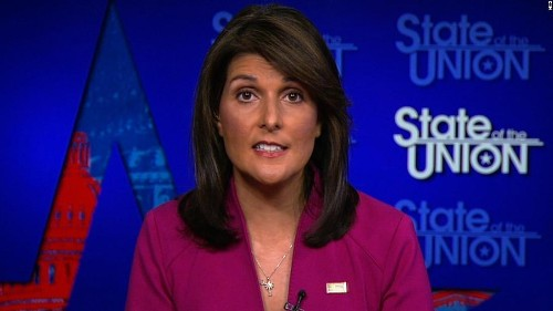 Haley: US 'not looking to do regime change anywhere'