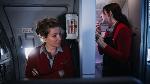 Flight attendant photographs behind the scenes of Virgin America