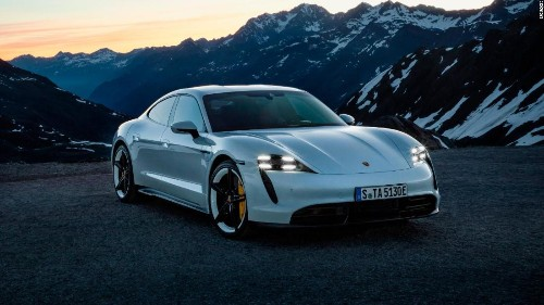 Porsche's first electric car has almost no switches, knobs or gauges. Here's what it does have