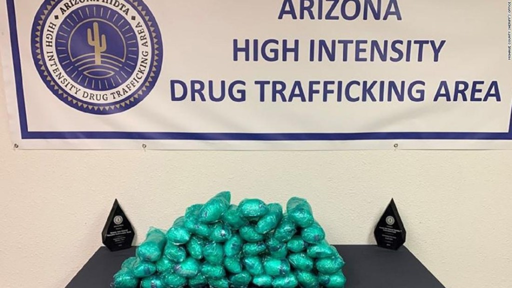 A driver was arrested with $1.9 million worth of meth in plain view, authorities say