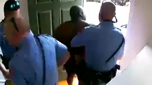 A black homeowner was handcuffed and detained in his boxers after his burglar alarm went off