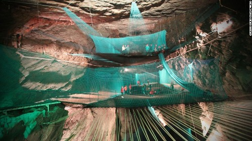 Deep thrills: The crazy cave trampolines of Wales
