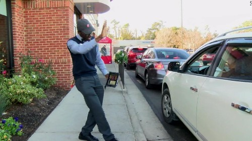 This Chick-fil-A employee has become a local celebrity after a video of his drive-thru demeanor went viral