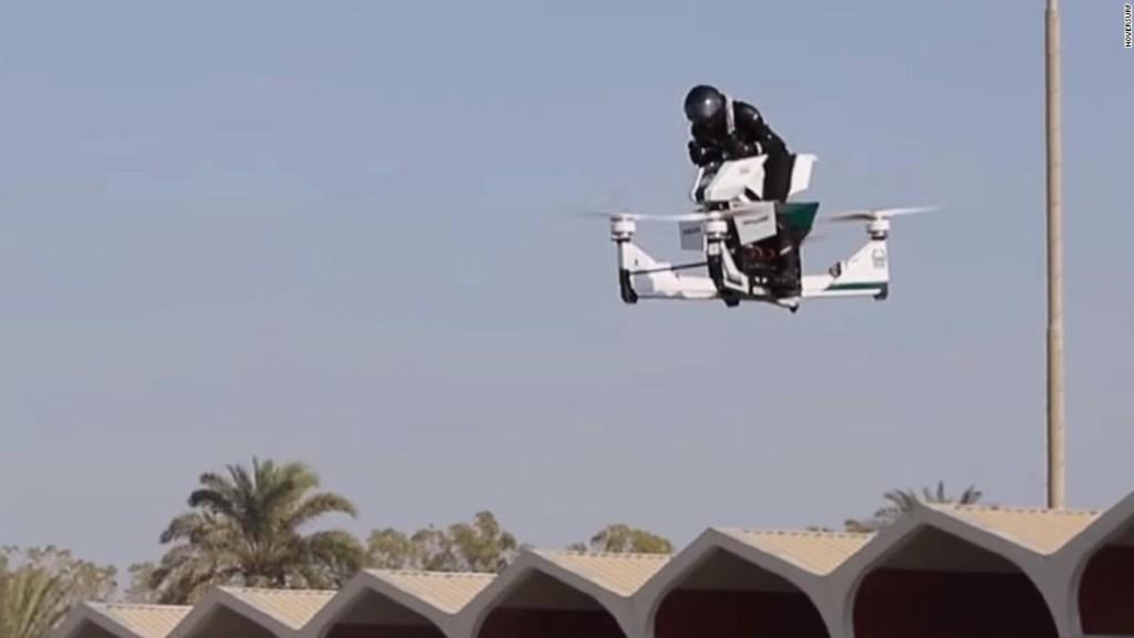 Flying motorbike trialed by Dubai Police