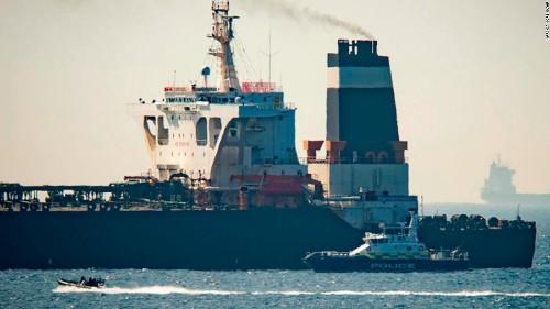Gibraltar seizes Iranian oil tanker bound for Syria