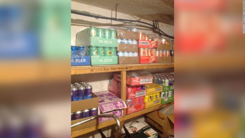A bar was struggling. Customers bought all its beer stock to keep it in business