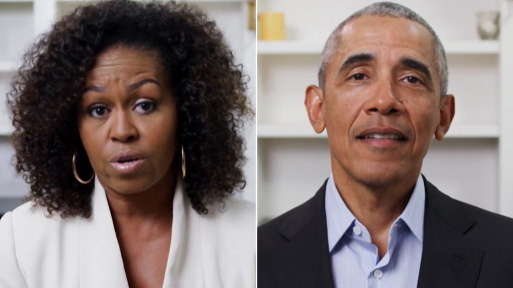 Obamas respond to George Floyd protests in commencement speeches - CNN Video