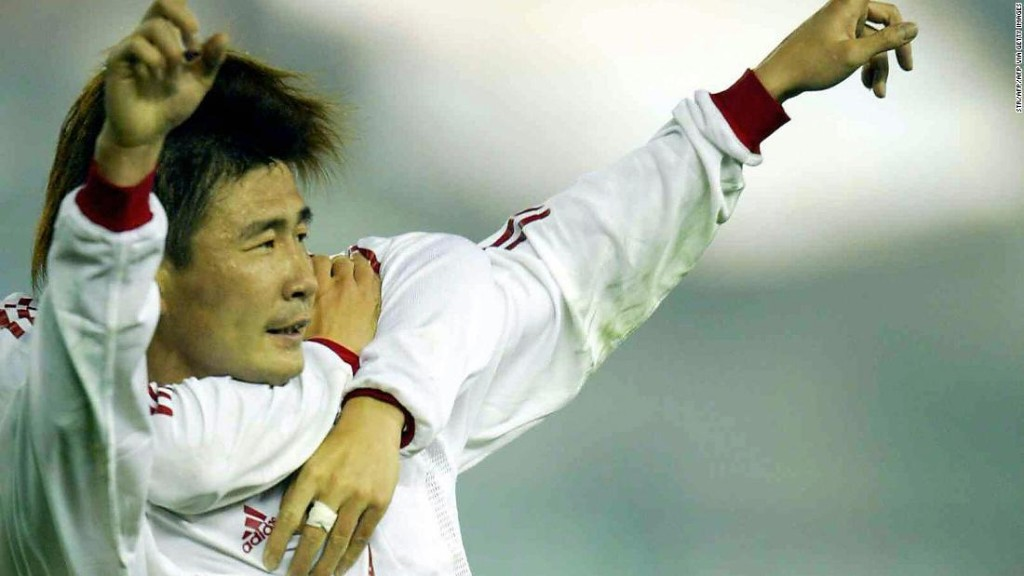 A Chinese soccer legend has called for the downfall of the Communist Party in shock videos