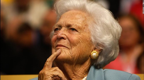 Barbara Bush, Republican matriarch and former first lady, dies at 92