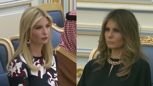 Melania and Ivanka Trump arrive in Saudi Arabia sans headscarves