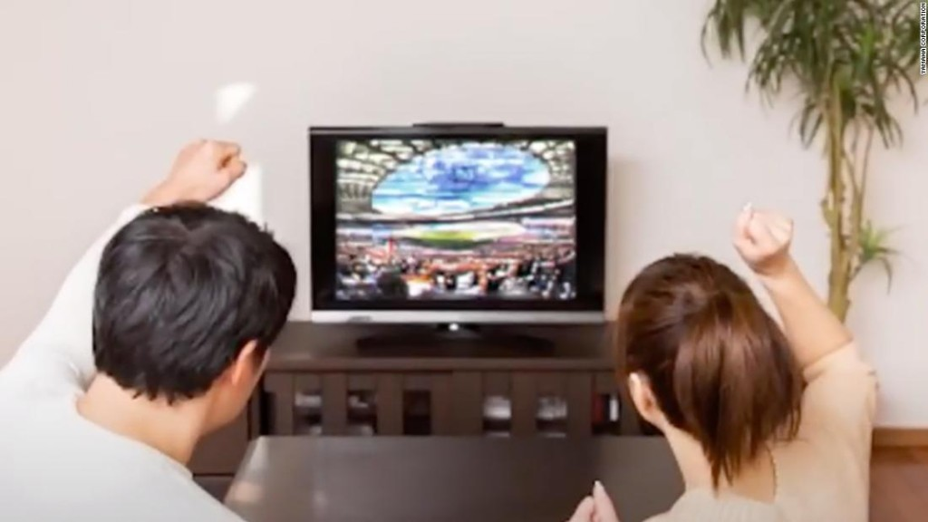 Japan is testing an app that lets sports fans cheer from the safety of their sofas