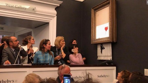Banksy's shredded artwork renamed