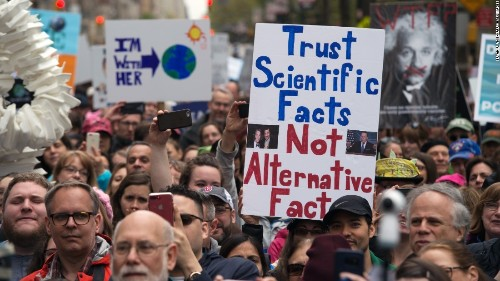 March for Science: Protesters gather worldwide to support 'evidence'