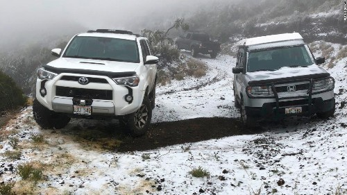 Winter storm brings snow to Maui