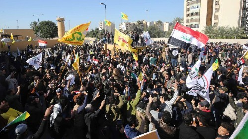 Trump threatens Iran after protesters attack US embassy in Baghdad