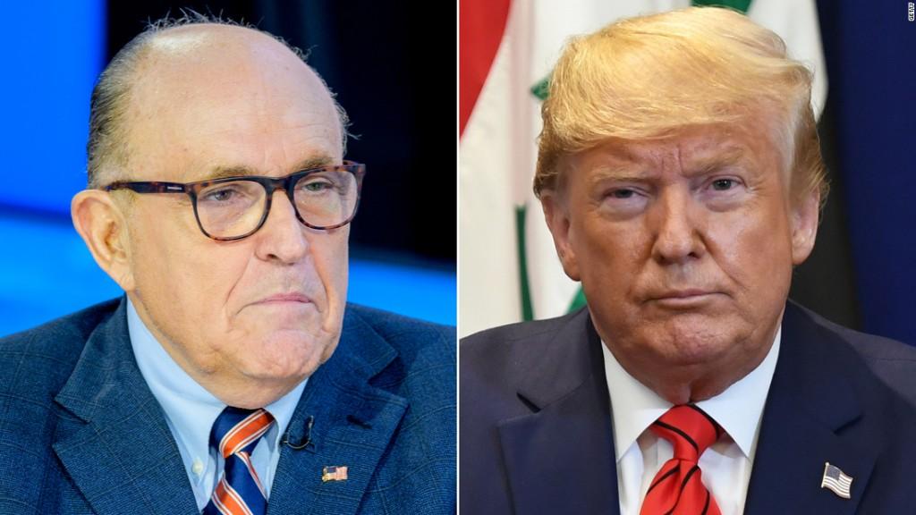 Trump contradicts past denials, admits sending Giuliani to Ukraine