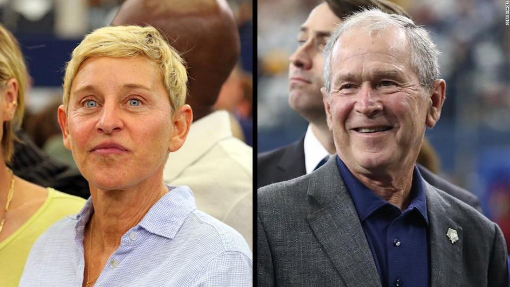Ellen DeGeneres explains hanging out with her friend George W. Bush