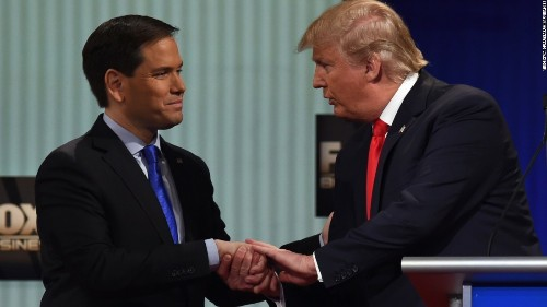 Rubio says he apologized to Trump for 'small hands' jest