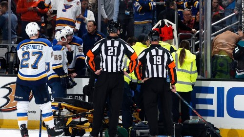 National Hockey League player Jay Bouwmeester doing well after cardiac event that required defibrillator