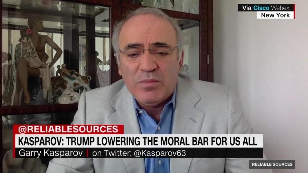 Kasparov: Trump lowering the moral bar for us all