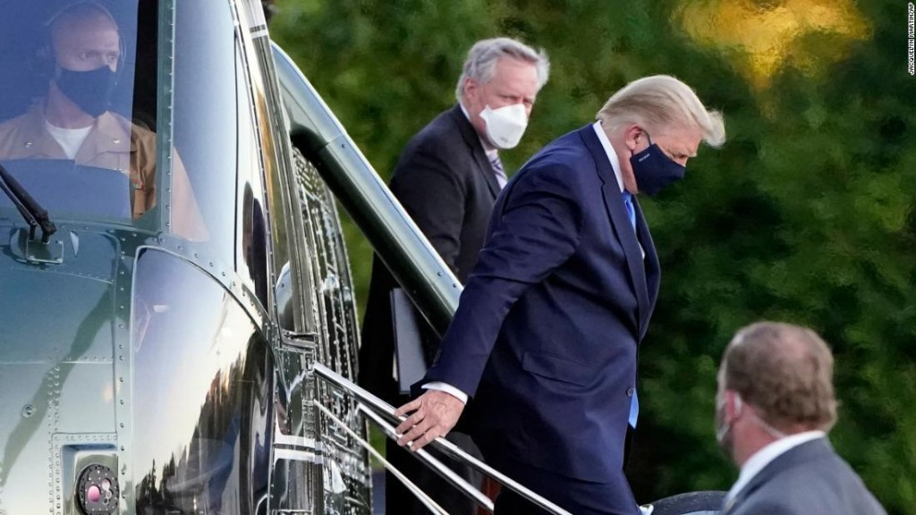 Trump taken to Walter Reed medical center and will be hospitalized 'for the next few days'