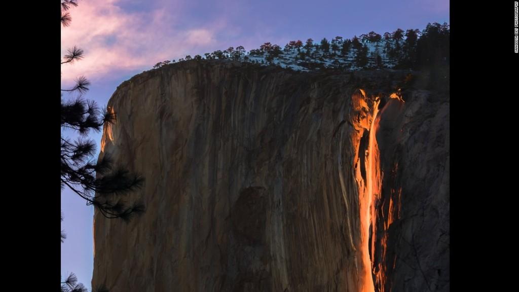 'Firefall' mesmerizing at Yosemite National Park in California