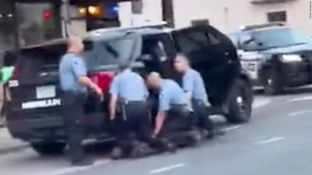 New video appears to show George Floyd being kneeled on by 3 officers