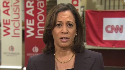 Bipartisan group removed from justice forum after protest from Harris and college students