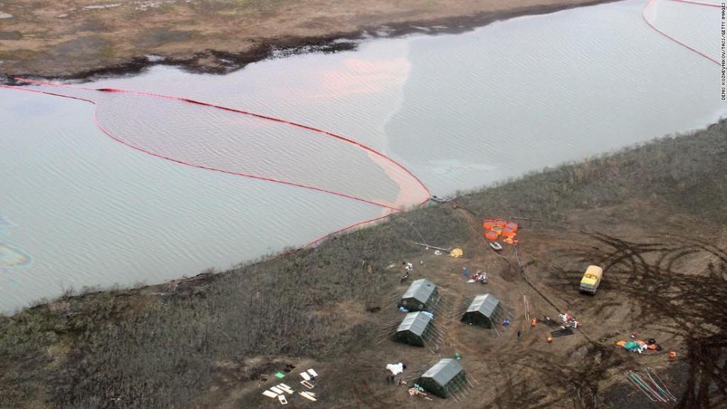 Putin declares emergency over 20,000 ton diesel spill