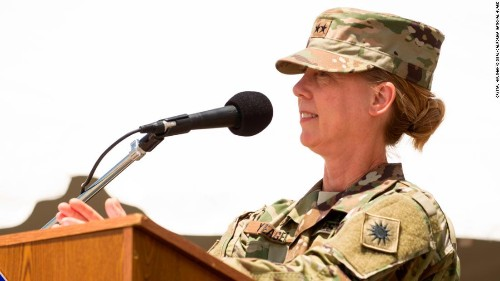 Since 1917, this US Army infantry division was led by men. A woman is now taking charge