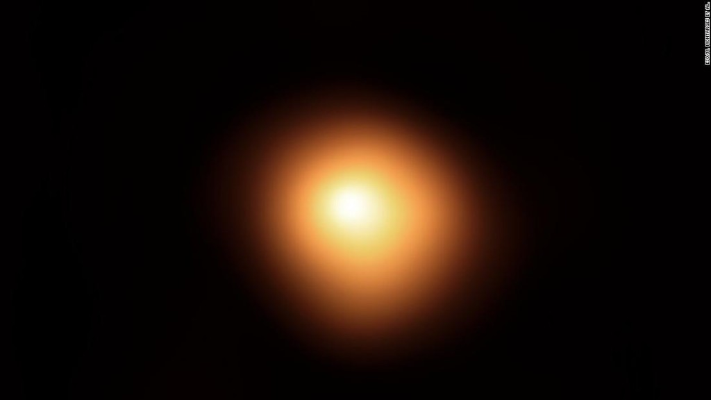 Betelgeuse, the unusually dimming star, is smaller and closer than scientists thought