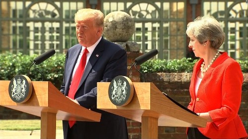 Trump responds to news of his Theresa May criticism
