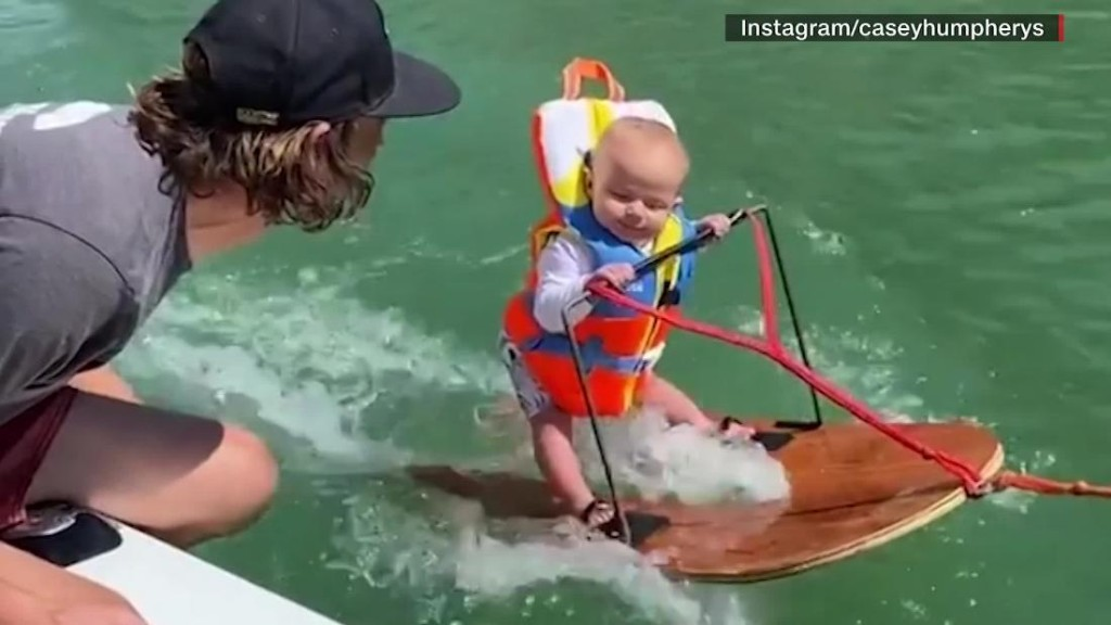 Parents respond to critics over 6-month-old waterskiing baby