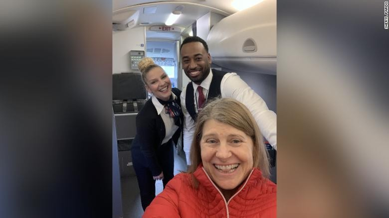 A woman flying to see her dying mother was the plane's only passenger