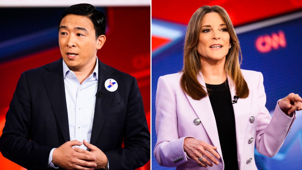 Marianne Williamson throws support behind Yang in Iowa caucuses