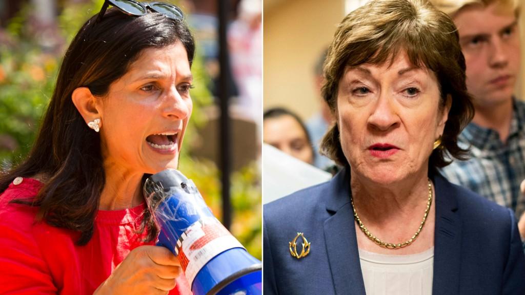 Collins and Gideon spar over Supreme Court and coronavirus in Maine Senate debate