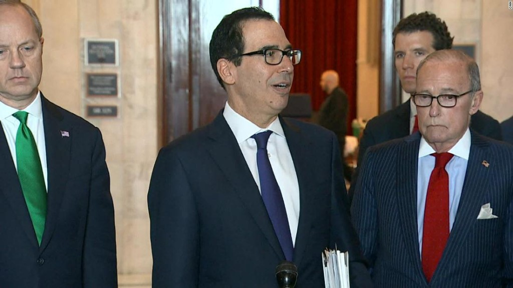 Mnuchin warns senators lack of action could result in 20% unemployment rate, source says