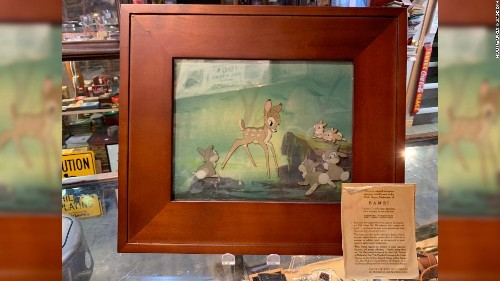 A homeless man found rare artwork from Disney's 'Bambi' in a trash bin. When it sold for $3,700, the seller tracked him down to split the proceeds