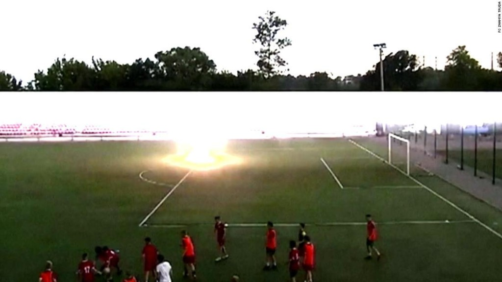 Russian footballer hit by lightning is back in training - CNN Video
