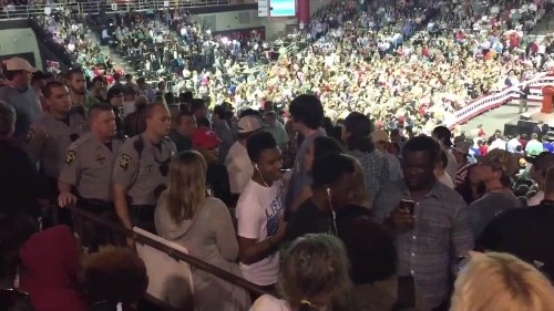 Valdosta State University black students escorted out of Trump rally