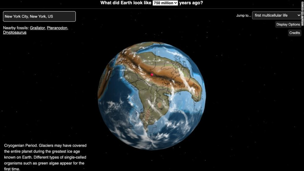 This map lets you see where your hometown was on the Earth millions of years ago