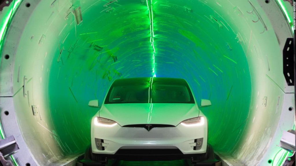Elon Musk says Las Vegas tunnel will hopefully be 'fully operational' in 2020