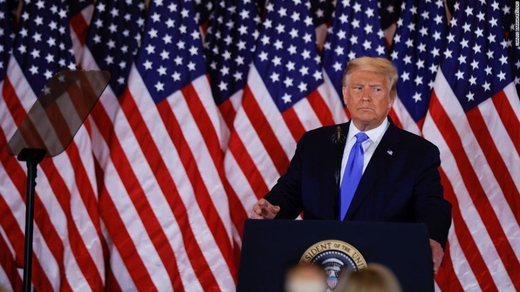 Fact check: Trump makes series of egregious false claims in Election Night address